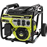 Ryobi 6,500-Watt Gasoline Powered Portable Generator with CO...