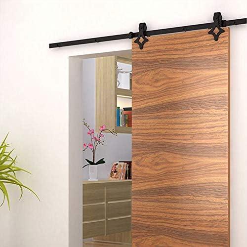 Herraje para Puerta Corredera Kit de Accesorios para Puertas corredizas sistema de puertas correderas Riel 1.83 M / 2M (1.8M,Diamante): Amazon.es: Bricolaje y herramientas