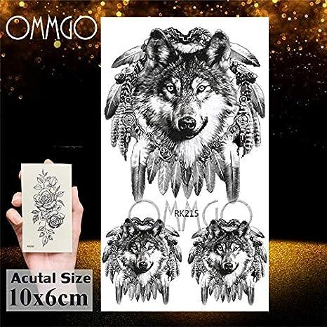 Yyoutop Real 3D Cara de Lobo diseño e Etiqueta engomada del ...