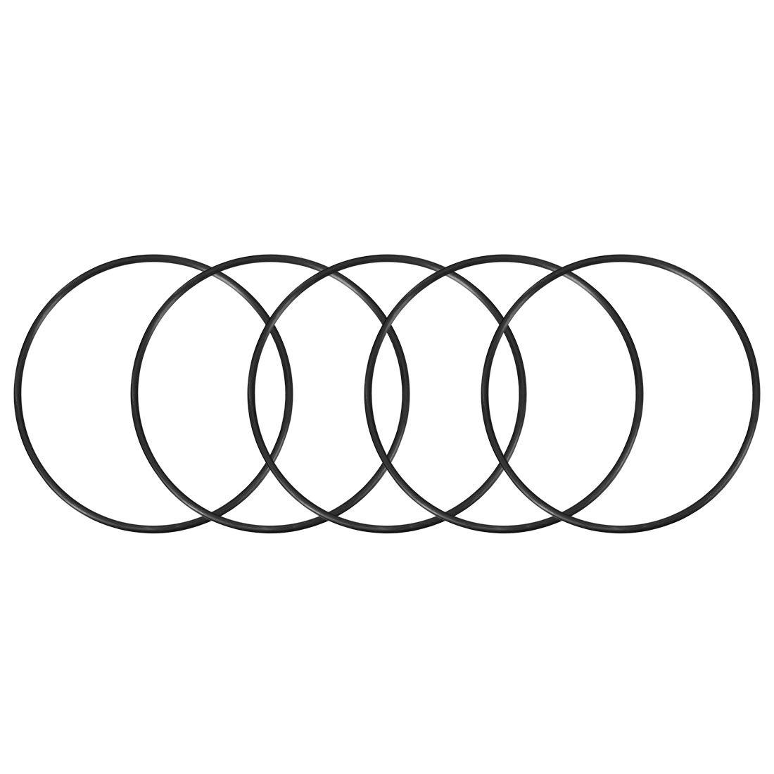 sourcing map 5pcs O-Ringe Nitrilgummi 117mm x 125mm x 4mm Dichtungsringe Dichtung schwarz DE de