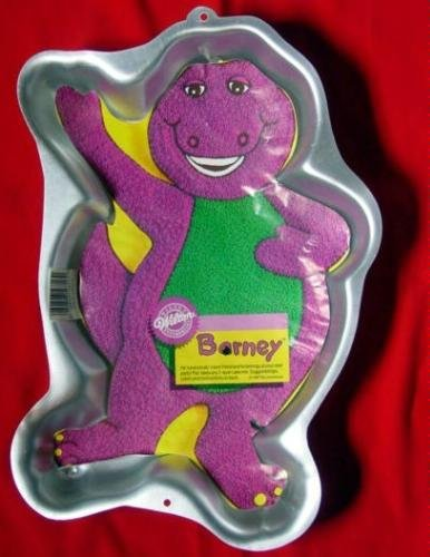 Wilton Barney Purple Dinosaur Full-body Waving Cake Pan Disney (2105-6713, 1993) Retired