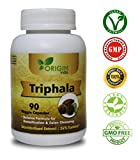 ORIGIN INDIA Triphala Capsules | 90 Vegan 450 Mg Pure Triphala Extract Capsules | 100% Natural Remedy for Detoxification & Rejuvenation For Sale