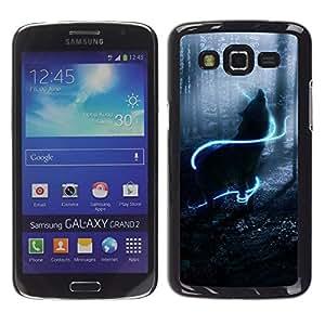 Stuss Case / Funda Carcasa protectora - Howl Wolf Neon Mystical Mist Nature - Samsung Galaxy Grand 2 SM-G7102 SM-G7105
