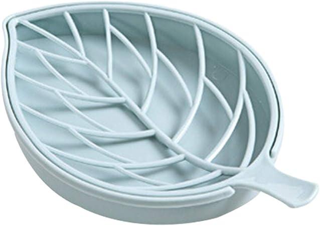 Blue plastica PoeHXtyy contenitori portasapone scatola di doppio strato di plastica PP per doccia 17.3 x 10.5 x 3cm