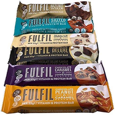 Fulfil Probierpaket 6 Protein Riegel (330g) Kohlenhydratreduziert und Zuckerarm