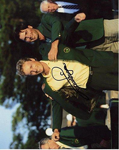 BERNHARD LANGER GREEN MASTERS JACKET GOLF SIGNED AUTOGRAPHED 8X10 PHOTO W/COA