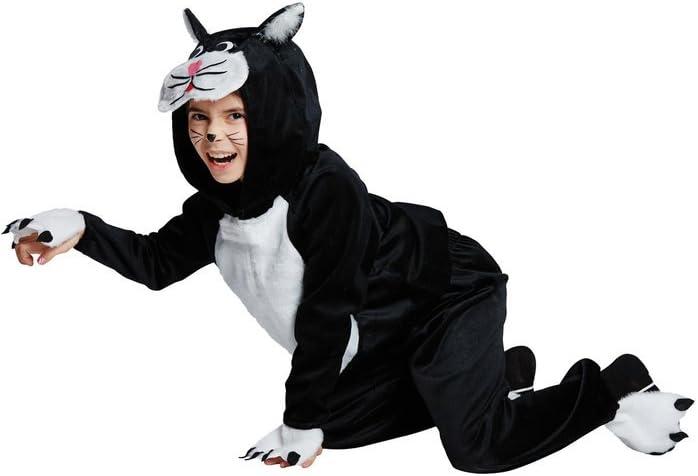 Disfraz de Gato Negro de color blanco para niños, tamaño 116 – 140 ...