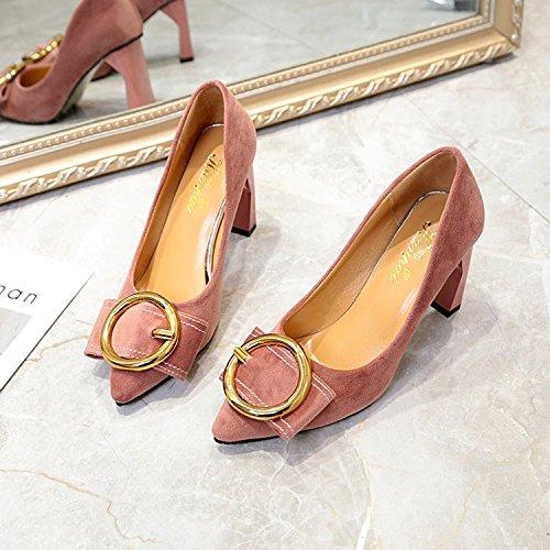 luce 37 scarpa e unica con semplici elegante Satin ed il Bow elegante Kit e Versatile sono Bold Tie rosa wp4UISI