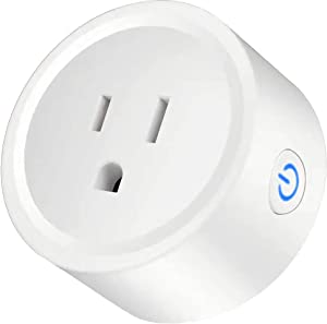 Smart plug Mini Wifi Outlet Works with Alexa Google Home No Hub Required Remote Control Your Home Appliances from Anywhere Only Supports 2.4GHz Network