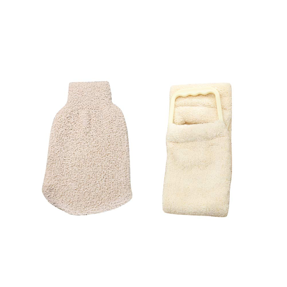 Frcolor 2 Stücke Peeling Körper Scrub Handschuh Dead Skin Cell Remover Doppelseitige Badehandschuh Tiefenreinigung Exfoliator für Männer Frauen
