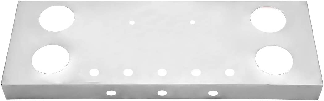 GG Grand General 91309 Stainless Steel Rear Panel with 4 and 1 inches Light Hole with License Plate