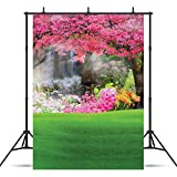 SJOLOON 5x7ft Beautiful Spring Scenery Thin Vinyl Customized Photography Backdrop Photo Background Studio Prop 4103