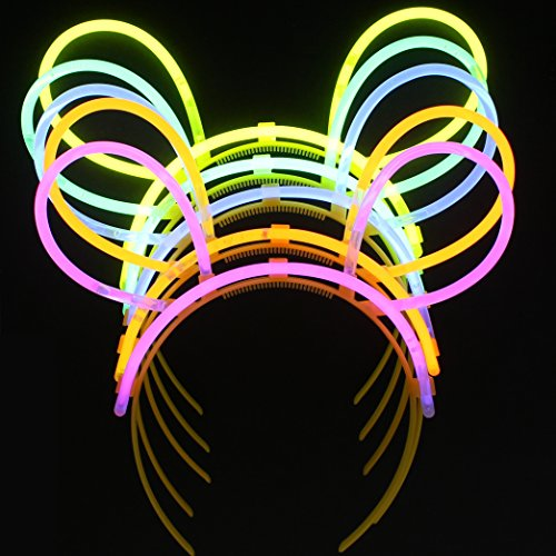 Zac's Alter Ego 10 Individually Packed Colour Self-Make Glow Bunny (Glow Bunny Ears)