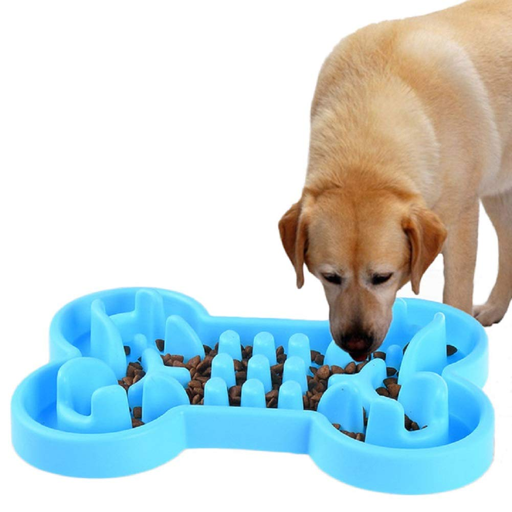 bluee S bluee S Pet Dog Feeding Bowls Puppy Slow Down Healthy Eating Feeder Dish Bowel Prevent Obesity Anti Choke and Anti-Gulping,bluee,S