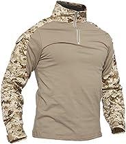 TACVASEN Men's Military Rapid Assault Slim Fit Short Long Sleeve Combat T-S