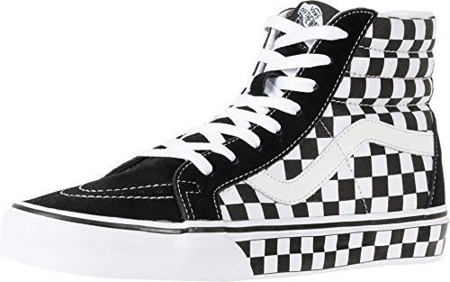 (Vans Unisex Checkerboard SK8-Hi Reissue Black/True White/Check Sneaker - 10.5)