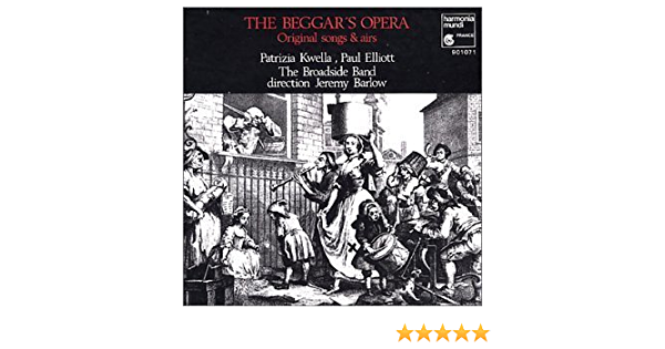 The Beggar S Opera Original Songs And Airs Music