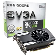 EVGA GeForce GTX 960 2GB SC GAMING, Only 6.8 inches, Perfect for mITX Build Graphics Card 02G-P4-2962-KR