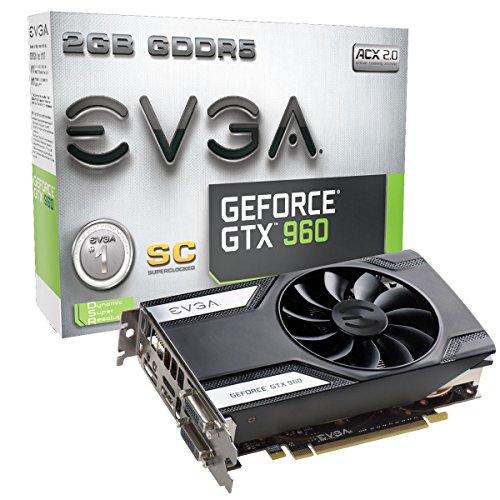 EVGA GeForce GTX 960 Superclocked Gaming ACX 2.0 2GB GDDR5 128bit PCI-E 3.0 16x Graphic Card (02G-P4-2962-KR)