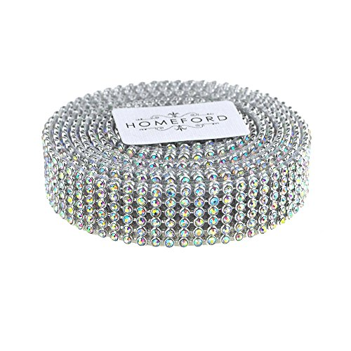 Homeford FNS000005960RDSV Ribbon, 3/4'', Iridescent Silver by Homeford