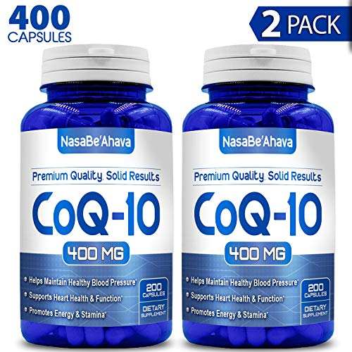 NASA Beahava Pure CoQ10 400mg Per Serving – 400 Capsules Supports Heart Health Helps Maintain Healthy Blood Pressure, 2 Pack 400 Capsules – Non-GMO USA Made