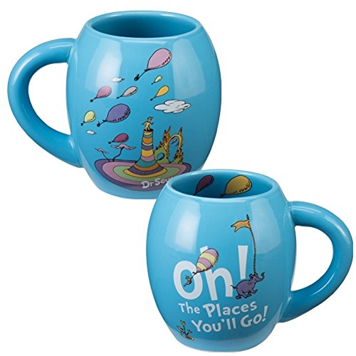 Dr. Seuss Oh The Places You'll Go Oval Coffee Mug