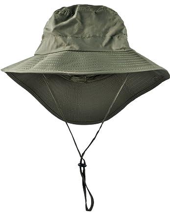 e467cd2cb2d Wide Brim Summer Hat - Unisex Uv Protection Beach Hat - Bucket Hat Packable  Safari