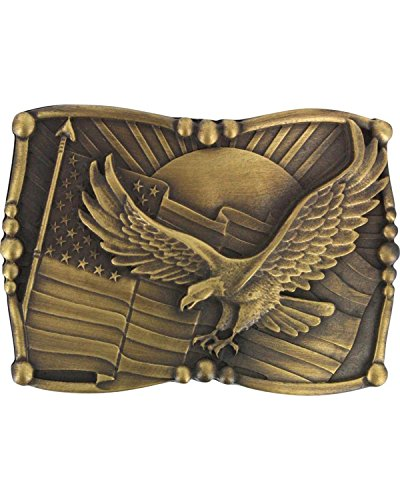 Cody James Men's Antiqued American Flag and Eagle Belt Buckle Brown One Size (Cody Buckle)