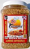Yummmy Brown Rice Wholegrain Parboiled, 3.5 lb. (56 oz), 100% Natural wholegrain, Kosher certified, Long grain rice, BPA free container