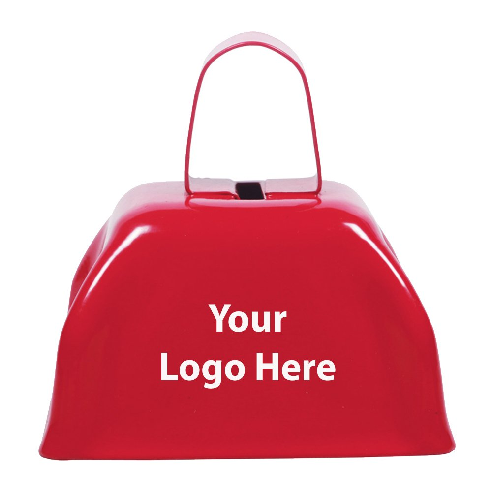 Small Basic Cow Bell - 150 Quantity - $2.00 Each - PROMOTIONAL PRODUCT / BULK / BRANDED with YOUR LOGO / CUSTOMIZED by Sunrise Identity