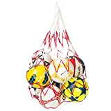 George Jimmy Basketball Football White Red Carry Net Mesh Nylon Bag Train School Supply