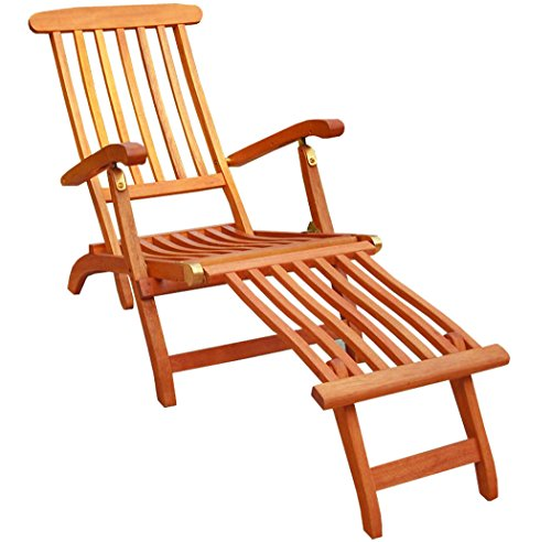 KMH®, Deckchair aus Eukalyptusholz (#101908)