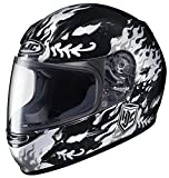HJC 0819-2905-56 CL-Y Flame Face Youth Helmet , Distinct Name: MC-5, Gender: Boys, Helmet Category: Street, Helmet Type: Full-face Helmets, Primary Color: Black, Size: Lg, Size Segment: Youth