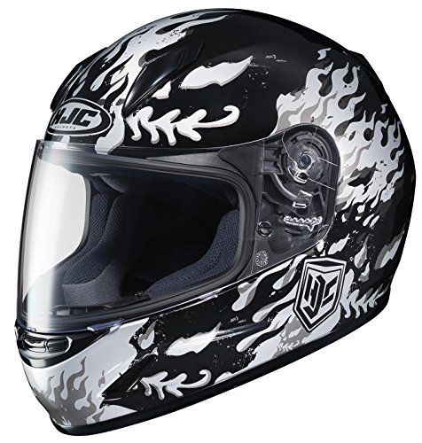 (HJC 0819-2905-56 CL-Y Flame Face Youth Helmet , Distinct Name: MC-5, Gender: Boys, Helmet Category: Street, Helmet Type: Full-face Helmets, Primary Color: Black, Size: Lg, Size Segment: Youth)