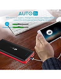 Batería externa de 22400 mAh EC Technology, Negro&Rojo