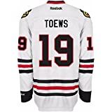 Jonathan Toews Chicago Blackhawks NHL Reebok Men #39;s White Premier Away Jersey