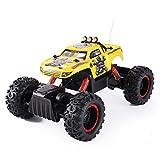 R/C Rock Crawler 1:12 Scale Radio Control 4x4 Wheel Drive Monster Truck Off Road Vehicle (Yellow)