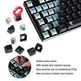E-Element Z-88 RGB Mechanical Gaming Keyboard, DIY Blue Switch, LED Backlit, Waterproof, Compact 81 Keys Anti-Ghosting for Mac PC, Black