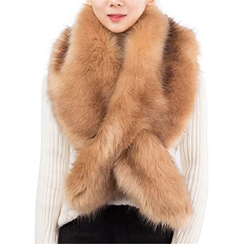 Belinan Women Faux Fur Collar Scarf Shawl Wrap Stole Warmer Shrug Winter Coat