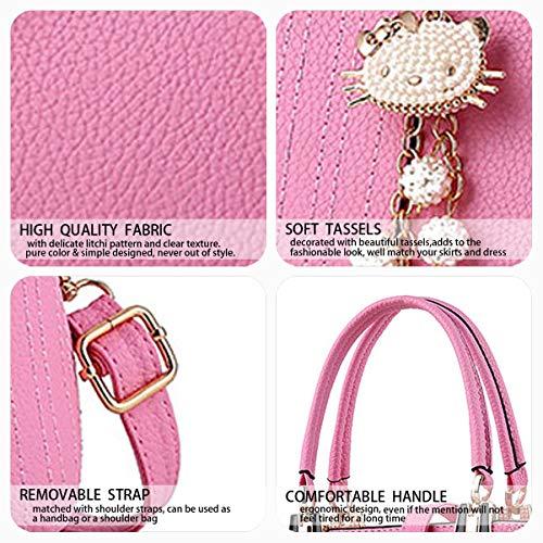 hombro Rosa de Mujer de Shoppers y Carteras clutches bolsos bandolera Bolsos y mano 88AIC7q1w