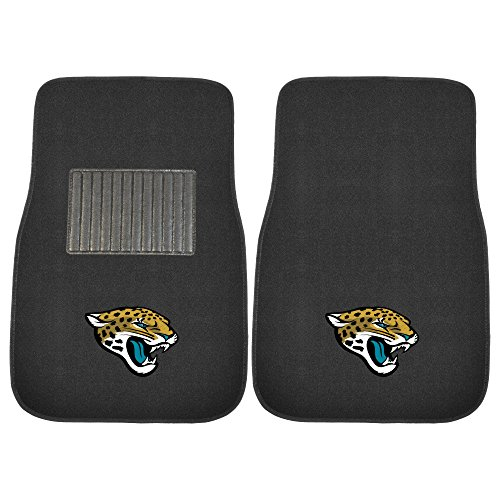 FANMATS 21540 Team Color One Size 2 Piece Embroidered Car Mat Set NFL (Jacksonville Jaguars), 2 Pack
