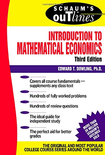mathematical methods for economics 2nd edition pdf