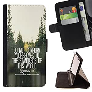 BullDog Case - FOR/Samsung Galaxy Note 4 IV / - / do not conform inspiring free quote /- Monedero de cuero de la PU Llevar cubierta de la caja con el ID Credit Card Slots Flip funda de cuer