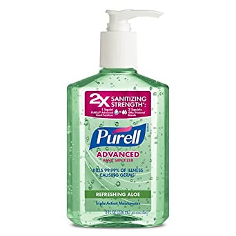 amazon com purell instant hand sanitizer with aloe 8 ounce pump