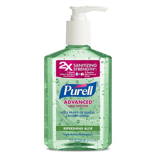 Purell Instant Hand Sanitizer with Aloe, 8-Ounce Pump Bottles (Pack of (Cleaner 8 Ounce Pump)