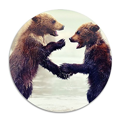 Reteone Animals Little Brown Bears Anti-slip Coral Velvet Round Area Rugs Memory Foam Floor Carpets Mats 15.75 Inch Diameter Bedroom Rug Yoga Chair Mat Doormat (Rugs Edmonton Ikea)