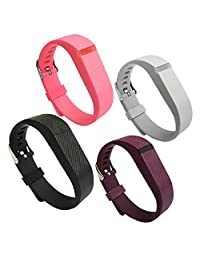 4PCS Replacement Wristband for Fitbit Flex Bands with Watch Buckle Small Large