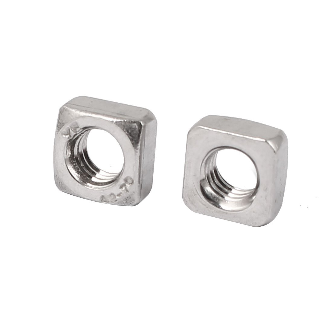 Uxcell a16033100ux0510 M5x8x4mm 304 Stainless Steel Square Machine Screw Nuts