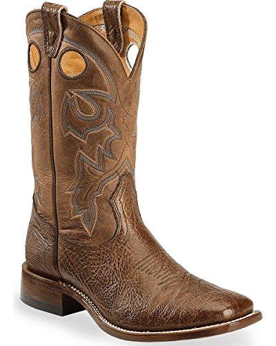n Cowboy Boot Wide Square Toe Dark Brown 10.5 D(M) US (Boulet Mens Medium Square)