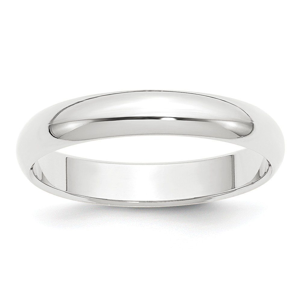 Jewelry Stores Network Solid Platinum 4 mm Comfort Fit Rounded Wedding Band Ring